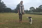 Claudette Rechtorik and foxy-Jack Russell staffy cross Pebbles