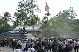 West Papuans raise independence flag
