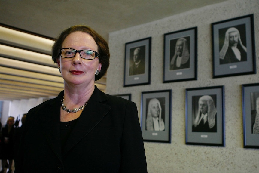 Lawyer Susan Kiefel after she was sworn in as a High Court judge in Canberra.
