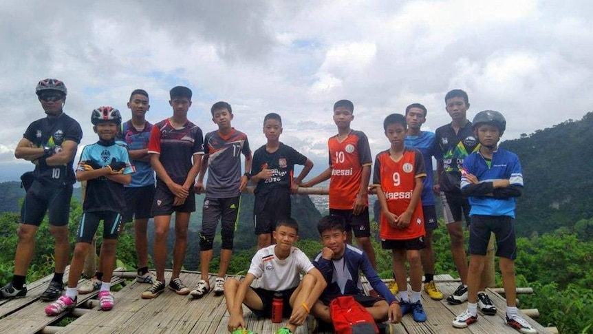 The Moo Pa (Wild Boar) soccer team