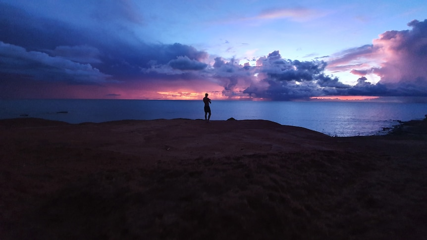Storm clouds at sunset from Gantheaume Point in Broome