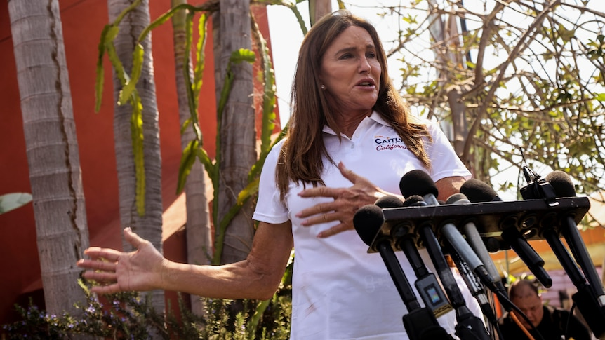 CaitlynJenner launches her bid for California governor in Venice Beach.