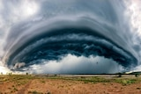Storm cell over northern Australia