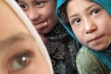 Girls attend school in Afghanistan's Jawzjan province.