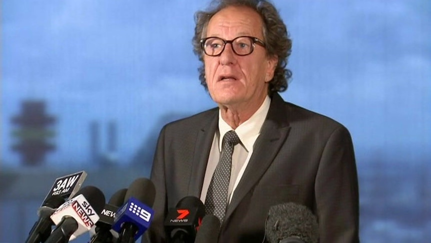 """Geoffrey Rush says the Daily Telegraph created """"irreparable damage"""" to his reputation"""