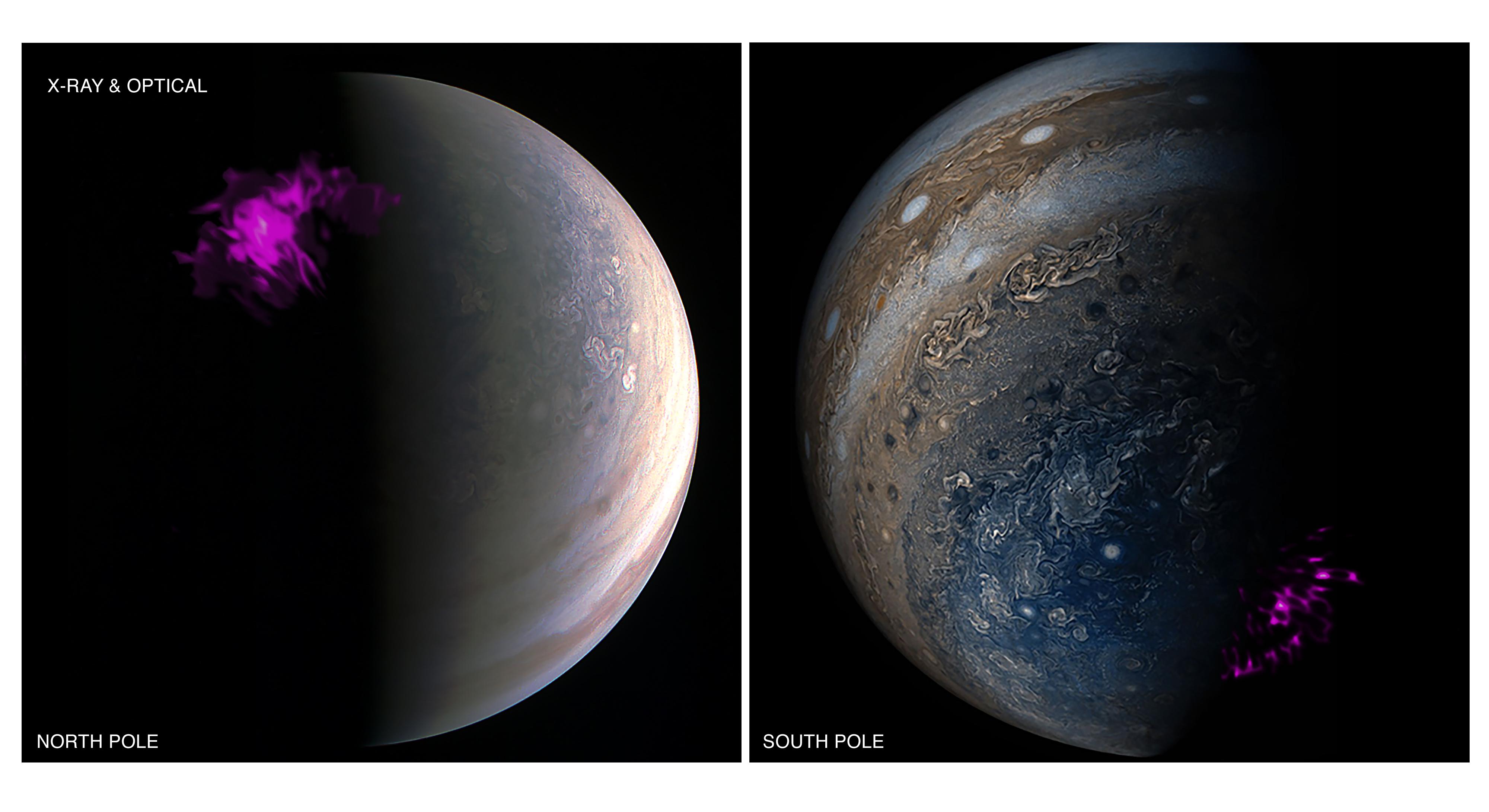 Aurora de rayos X sobre los polos de Júpiter