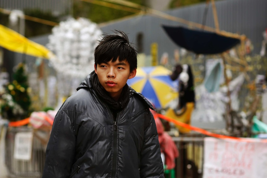 Joshua Wong was a key figure in pro-democracy protests in Hong Kong in 2014