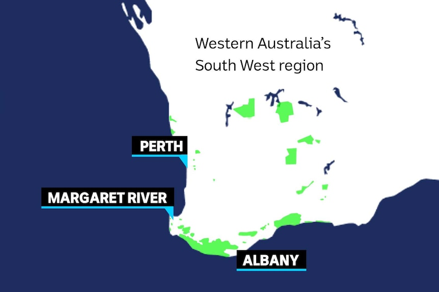 Map of South West WA