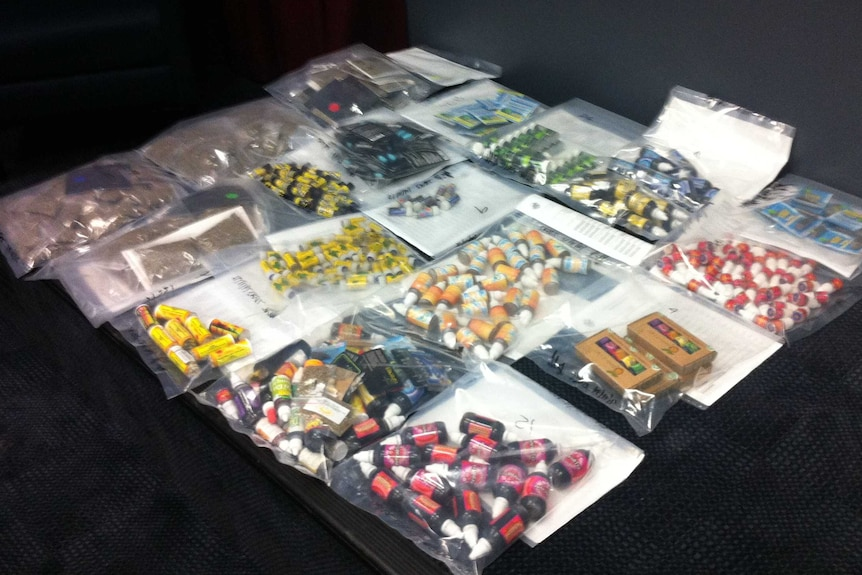 Synthetic drugs seized in $150,000 drug bust in south-east Qld