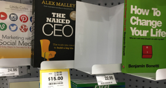 """Alex Malley book """"The Naked CEO"""" sits on bookstore shelf"""