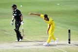Patrick Cummins in action for Australia XI