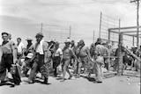 A group of Italian internees in Australia, WWII