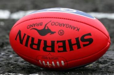 A football on mud