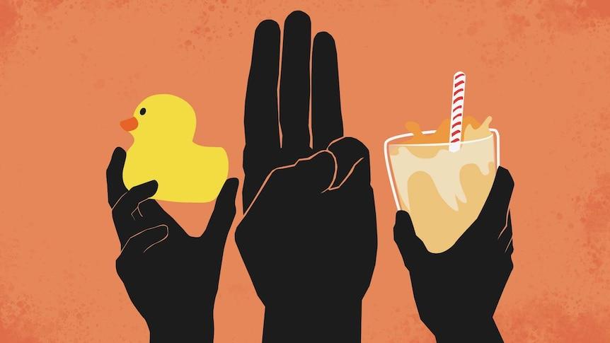 Salute Milk Tea Rubber Duck
