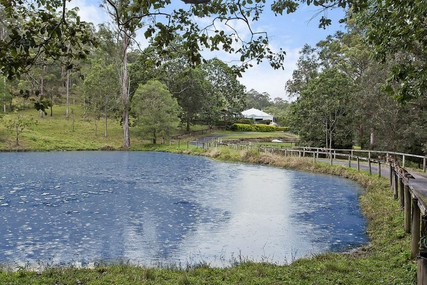 Lagoon on near Gold Coast property