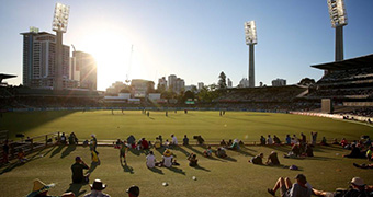Sun sets over WACA Ground