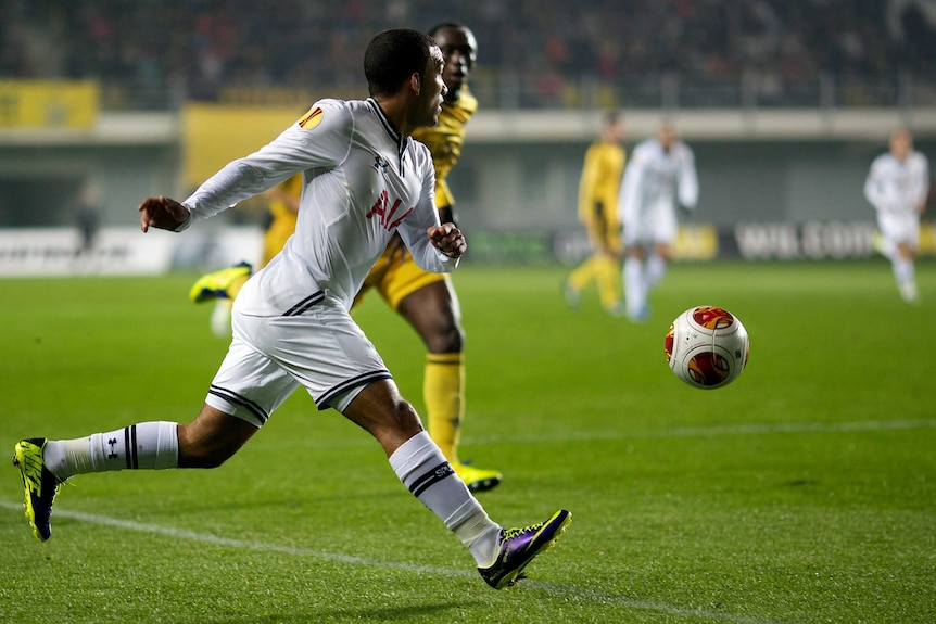 On attack ... Danny Rose controls the ball for Tottenham