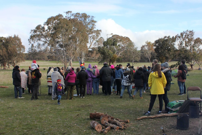 More than 70 Western Highway duplication protesters gather to discuss their next move.