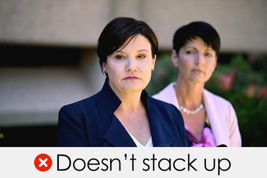 Jodi McKay's claim doesn't stack up