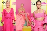 Pink, Saweetie and Alicia Keys in pink gowns for the Billboard awards
