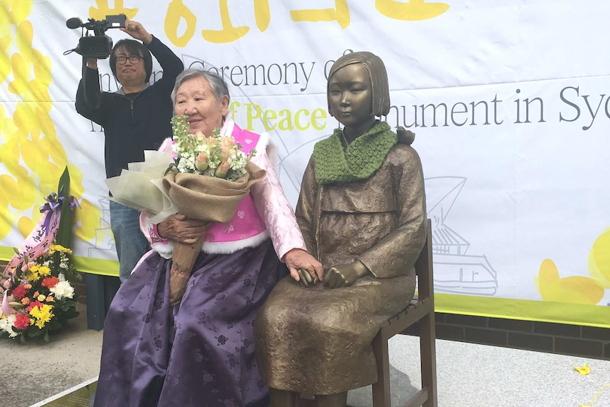 A former comfort woman from South Korea, Won-Ok Gil.