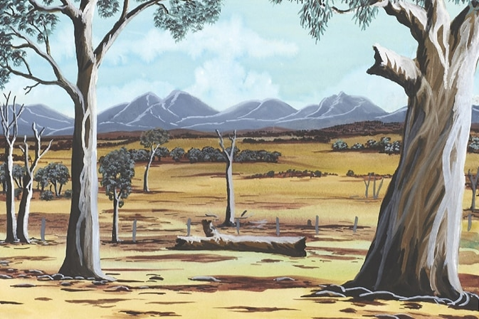 A Bella Kelly painting of the Stirling Ranges.