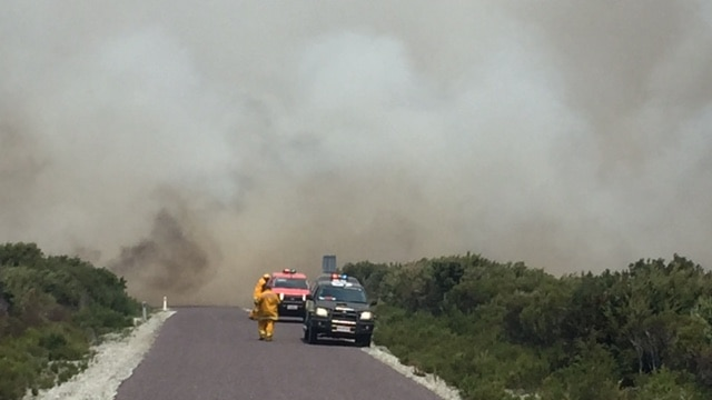 Smoke from fires at Arthur River