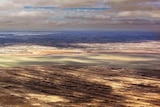 Clouds leave mottled pattern on Lake Eyre