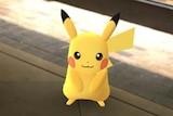 Screengrab of Pikachu on the Pokemon Go app