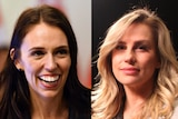 A composite image of Jacinta Ardern and Amy Campbell from A Chorus Line