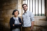 App developers Que Minh Luu and Jesse Cox inside the former Biloela Reformatory and Industrial School for Girls.