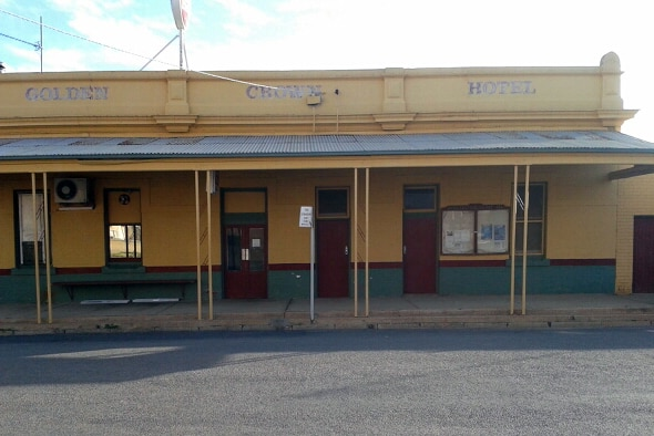 The Golden Crown Hotel, in Berriwillock, has been closed for renovations.