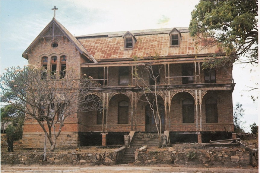 An 1880s convent stands in disrepair.