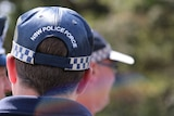 Back of NSW police officer's head