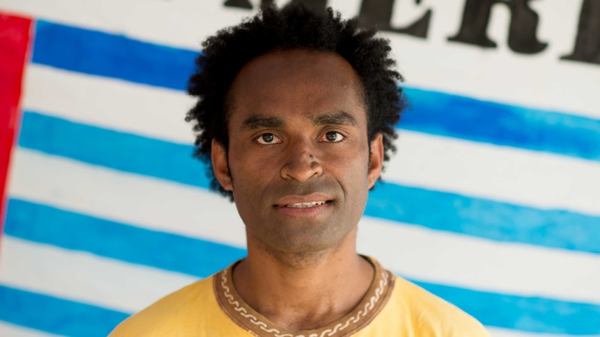 West Papua protester