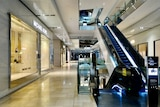 A largely empty interior of a shopping complex in Melbourne's CBD.