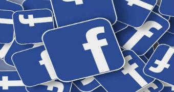 A pile of Facebook logos.