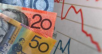 Money next to graph