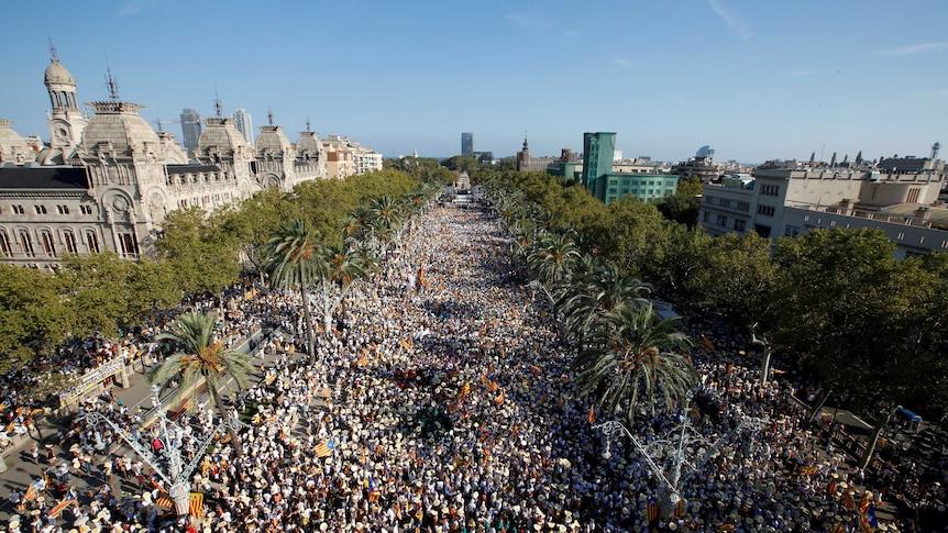 Catalan separatist rally