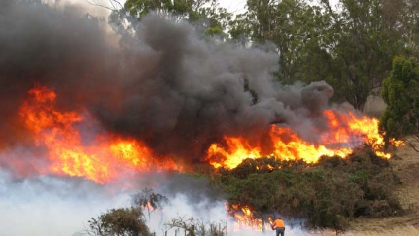 The Midland Highway was closed after serious fires at Powranna.