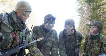 Estonia's citizen army takes part in military exercises.
