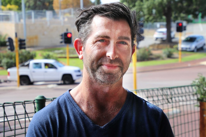 Profile of Geoff Hodder with Bayswater Train Station in the background