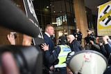 United Patriots Front leader, Blair Cottrell is seen at the Magistrates Court in Melbourne, Monday, September 4, 2017.