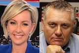 Deborah Knight and Ray Hadley sit in different studios.