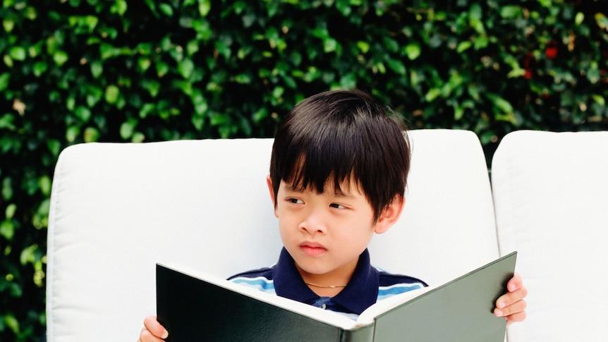 Asian boy reading a book (Thinkstock: Valueline)