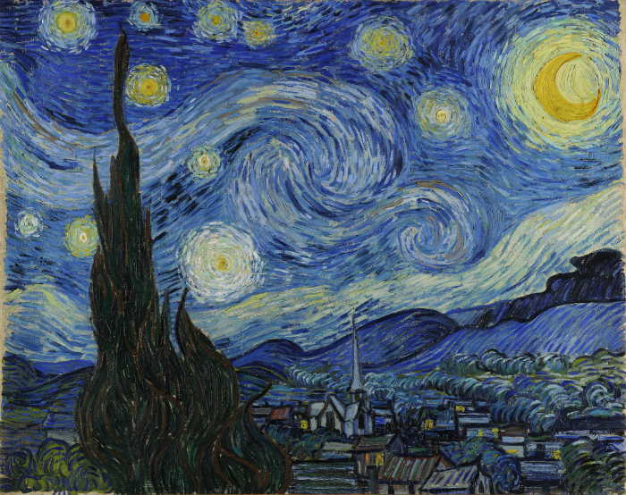 """Vincent van Gogh's iconic painting """"The Starry Night"""" (1889)."""