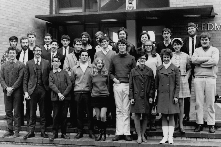 Six women in a class of 25 students studying theory of computation in 1969 at the University of Melbourne