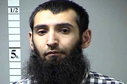 Sayfullo Saipov in an undated mugshot from the St Charles County Department of Corrections.