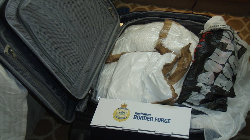 A suitcase containing 95 kilograms of cocaine.