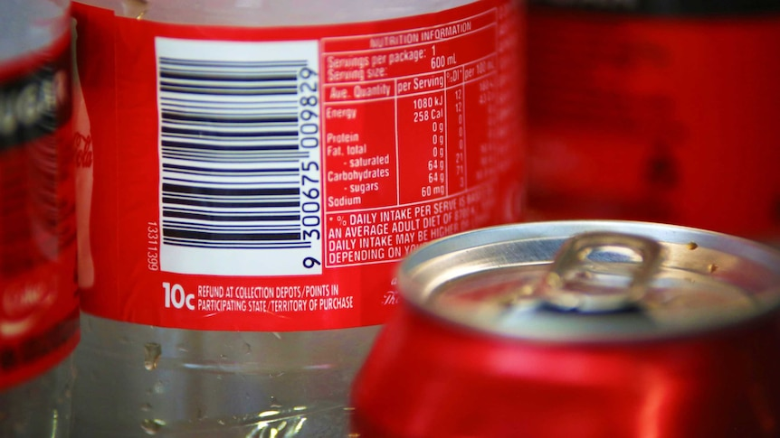 Plastic bottles with updated recycling labels